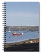 Mylor Creek Panorama Spiral Notebook