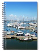 Mylor Marina Cornwall Spiral Notebook