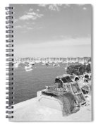 Mylor Quay In Cornwall Monochrome Spiral Notebook