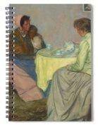 Myron G. Barlow 1873 - 1937 Dutch Women Drinking Coffee Spiral Notebook