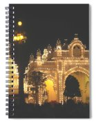 Mysore Palace Main Gate Temple Gloriously Lit At Night Spiral Notebook