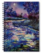 Mysterious Blue Pond Spiral Notebook