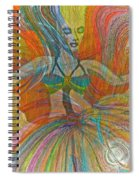 Mysterious Dancer Spiral Notebook