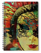 Mysterious Mask Spiral Notebook