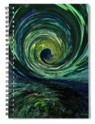 Mysterious Wave Spiral Notebook