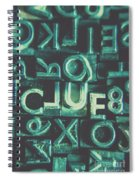 Mystery Writer Clue Spiral Notebook