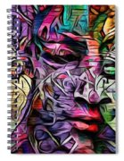Mystic City Faces - Version B  Spiral Notebook