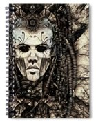 Mystic Future And Past - Ion Prophecies - Monotone  Spiral Notebook