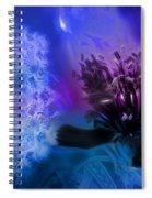 Mystic Poppy Blue Purple  Spiral Notebook