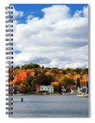Mystic River In Autumn Spiral Notebook