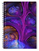 Mystical Caves Of Halyon Spiral Notebook