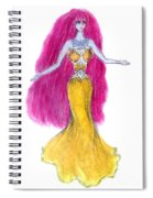 Mzia Meisouri. Beauty Girl From Space Spiral Notebook