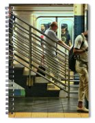 N Y C Subway Scene # 9 Spiral Notebook