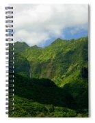 Na Pali Green Spiral Notebook