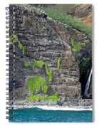 Na Pali Waterfall Spiral Notebook