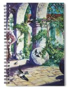 Naked In The Cloisters Spiral Notebook