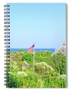 Nantucket Cottages Overlooking The Sea Spiral Notebook