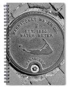 Nantucket Water Meter Cover Spiral Notebook