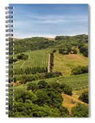 Napa Valley California Panoramic Spiral Notebook