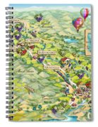 Napa Valley Illustrated Map Spiral Notebook
