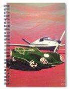 Napa Valley Lotus And Bonanza Beechcraft Spiral Notebook