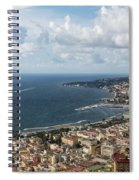 Naples Italy Aerial Perspective - Coastal Beauty Of Mergellina, Posillipo And Marechiaro Spiral Notebook