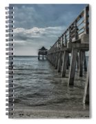 Naples Pier And Beach Fun Spiral Notebook