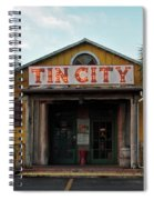 Naples Tin City - Open For Business Spiral Notebook