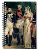 Napoleon Bonaparte Receiving Queen Louisa Of Prussia Spiral Notebook