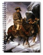 Napoleon Crossing The Alps Spiral Notebook