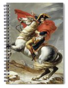 Napoleon Crossing The Alps, Jacques Louis David, From The Original Version Of This Painting  Spiral Notebook