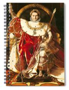 Napoleon I On The Imperial Throne Spiral Notebook