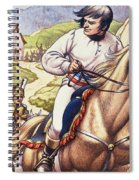 Napoleon Making A Narrow Escape With An Austrian Cavalry Patrol Close On His Heels Spiral Notebook