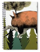 Napping Squirrel Spiral Notebook
