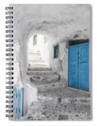 Narrow Alley And Stairway On Santorini Spiral Notebook
