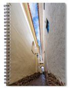 Narrow Alley In Cusco Spiral Notebook