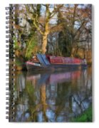 Narrow Boat On Wey Navigation - P4a16008 Spiral Notebook