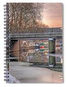 Narrow Boats Under The Bridge Spiral Notebook