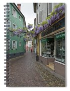 Narrow Street In Freiburg Spiral Notebook