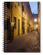 Narrow Street In Old Town Of Wroclaw In Poland Spiral Notebook