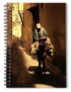 Narrow Streets Fes Male Donkey  Spiral Notebook