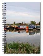 Narrowboats At Barton Marina Spiral Notebook
