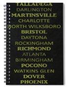 Nascar Track List Spiral Notebook