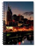 Nashville At Sunset Spiral Notebook