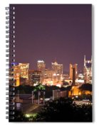 Nashville Night Scene Spiral Notebook