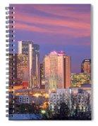 Nashville Skyline At Dusk 2018 Panorama Color Spiral Notebook