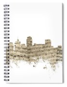 Nashville Tennessee Skyline Sheet Music Spiral Notebook