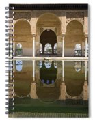 Nasrid Palace Arches Reflection At The Alhambra Granada Spiral Notebook
