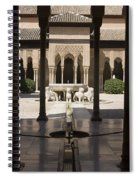 Nasrid Palaces Alhambra Granada Spain Europe Spiral Notebook