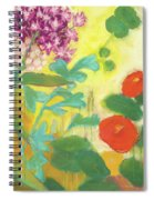 Nasturtiums, Rose Milkweed And Rue Spiral Notebook